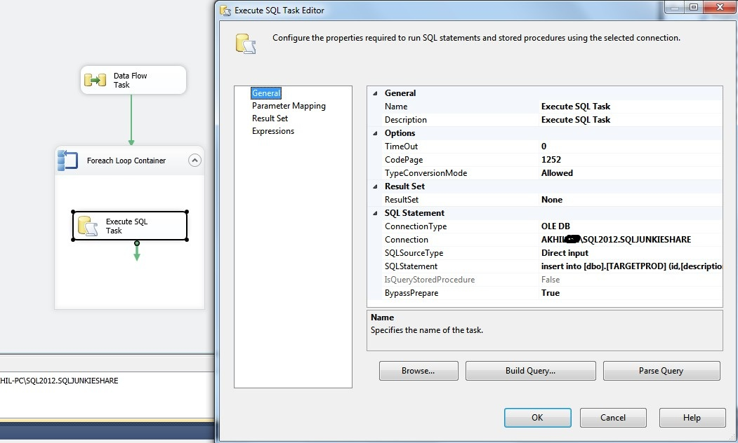 Inserting Records and Getting Identity in SSIS – Sqljunkieshare