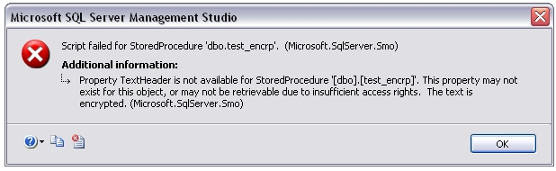 how to view encrypted stored procedure in sql server 2008