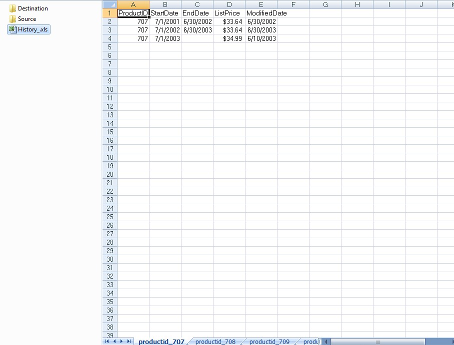 how to create excel sheet