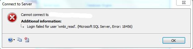 SQL LOGIN error