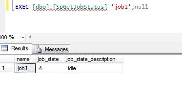 agent job status