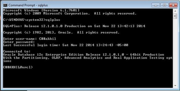 sqlprompt sqlplus