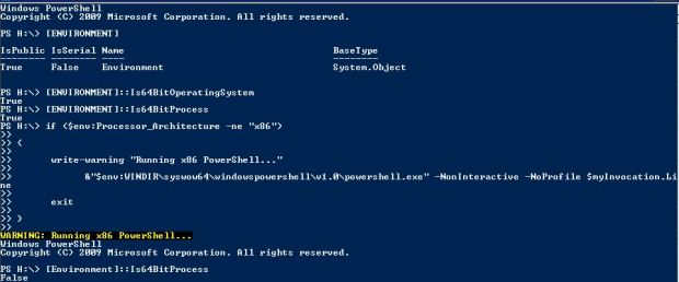 Powershell environement